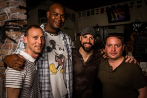 Friends hanging out with Chris Daughtry at The Pour House